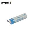 3.6v LiSOCl2 lithium battery AA size ER14505 2400mah for intelligent water meter