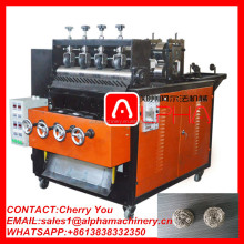 Hot sale 8 wires 4 balls automatic stainless steel mesh scourer making machine