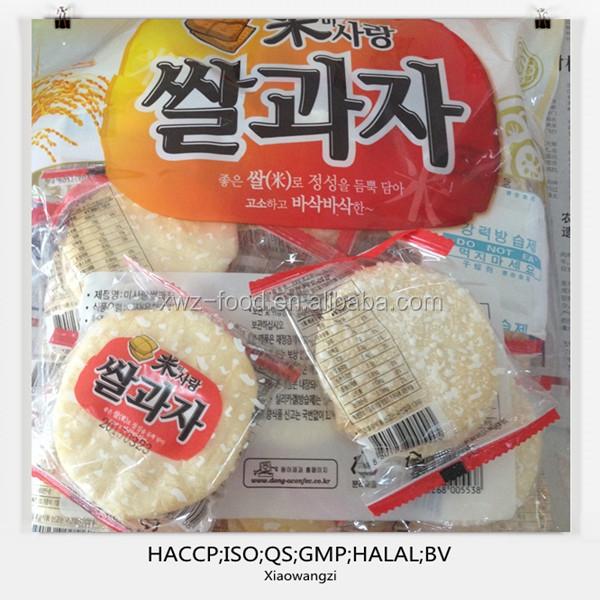 Chinese rice cracker export to Korea