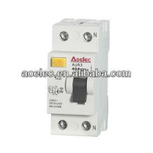 AUR3 CE mark Modular Electrical RCCB current rating 16A