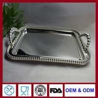 silver tray for food silverplate big dish metal plate high quality SGS