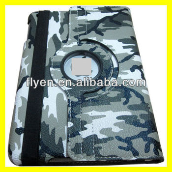 Magnetic Rotating PU Leather Case Smart Cover For iPad mini wholesale Cheap Lot Tablet Cases Covers Camouflage Military Army