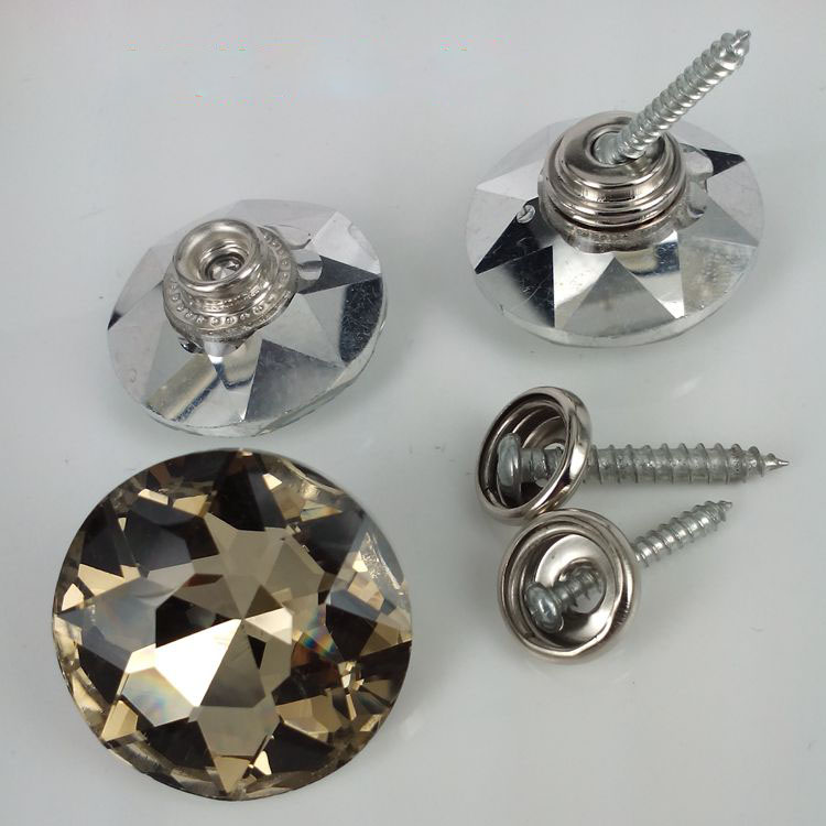 Top selling good quality upholstery sofa crystal snap buttons manufacturer sale