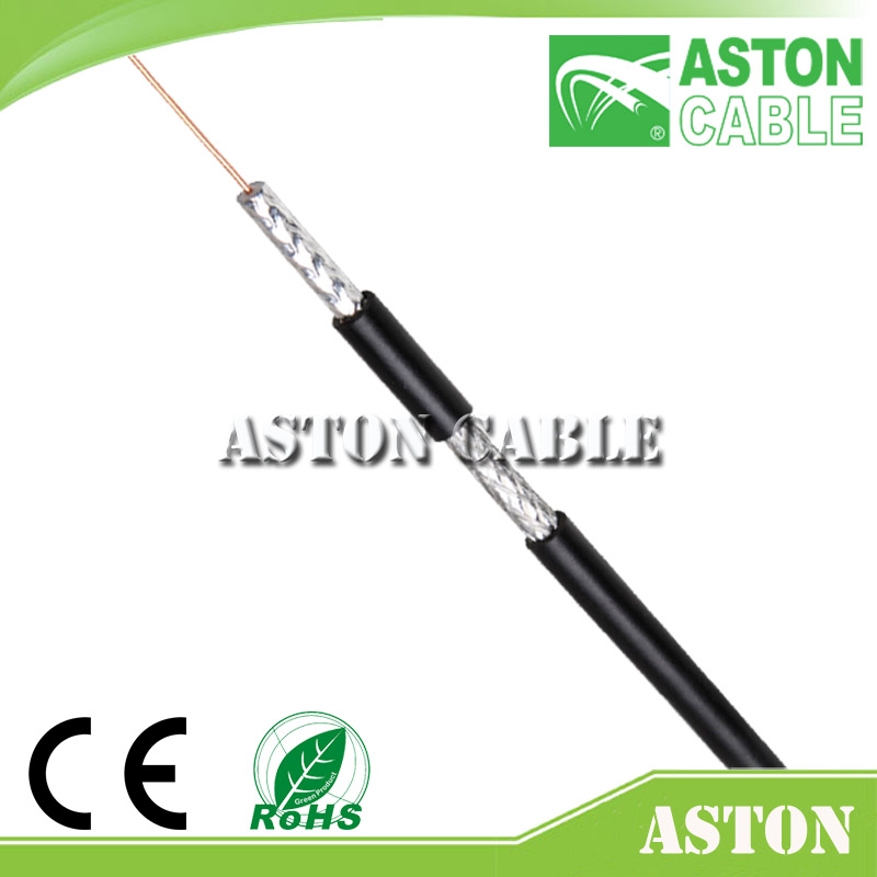 Aston16 Years Cable Factory rg6 with 2 core power cable Hot For Mid-East / Euro / USA