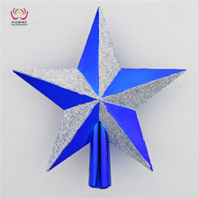 hot sale !Personalized Plastic star style christmas tree topper, novel christmas tree decoration