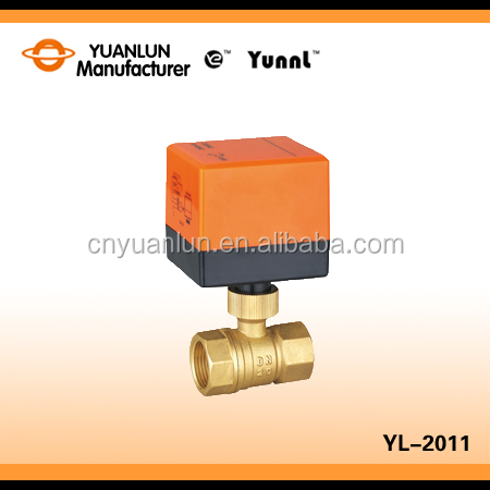 Flow Control Mini Motorized Ball Valve Electric
