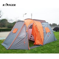 Easy Folding Popular 4 Person Luxury Family Camping Tent