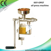 Hot sale mini home used manual oil press machine/sesame oil extraction machine