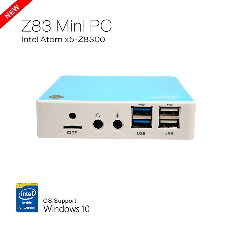 2016 New Intel Atom Cherry Trail Quad Core CPU Windows 10 Z8300 Mini PC With VGA HDMI 4 USB Dual LAN Router
