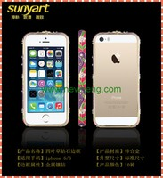 New Arrival Screwless Bling Crystal Diamond Bumper Frame Metal Case For Iphone 5
