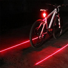 YOUME Hot Cycling Lights Waterproof 5 LED 2 Lasers 3 Modes Bike Taillight Safety Warning Light Bicycle Rear Bycicle Light Tail