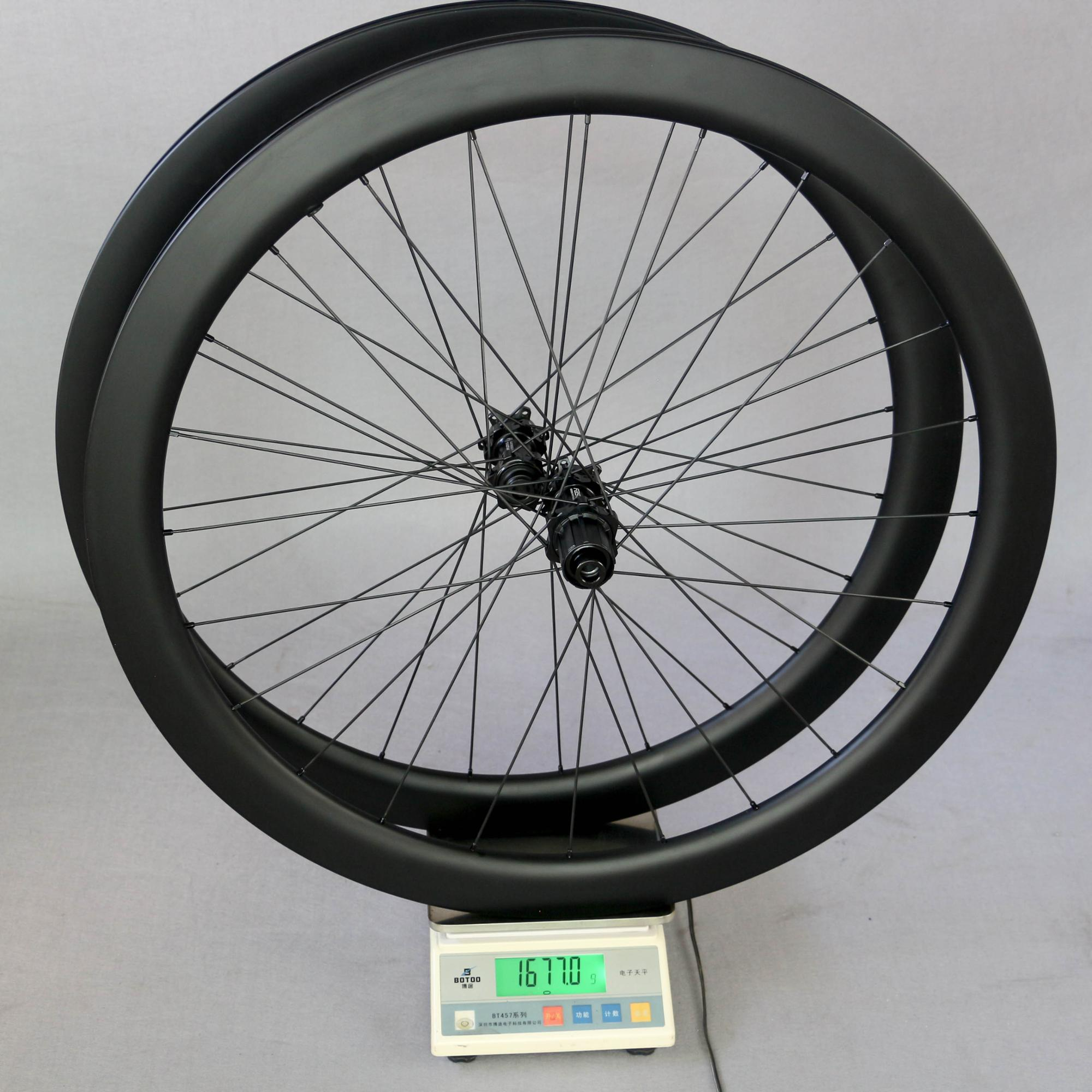 UCI Tested Carbon Disc Brake Wheelset FASTACE Hub 24-24H With Carbon Rims 48mm Deep 25mm Wide