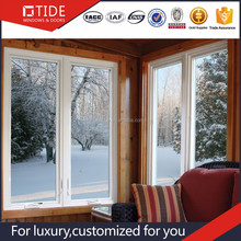 Double Glazed Customized Low-e hollow glass Aluminum Casement Window