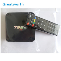 Android Tv Box T95M 2GB/8GB Built in 2.4G WiFi real tv box Android7.1 2g 8g S905x Set Top Box T95M with time clock display