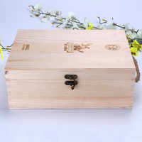 factory directly sale double side printing promotional wine box wood