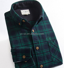 2015 Mens fashion long sleeve wholesale cheap flannel shirts mens long sleeve thick shirt
