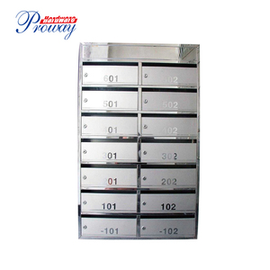 Combined stainless steel mailboxes apartment building mailbox