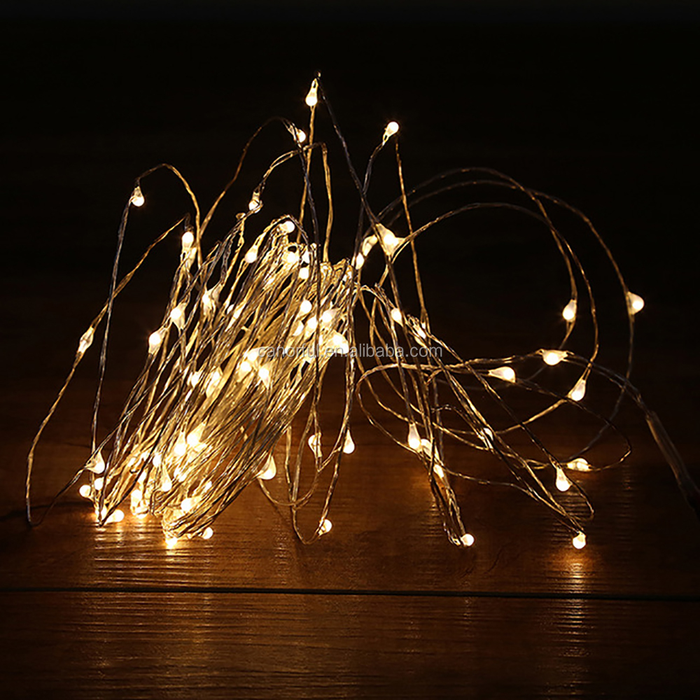 12v Home Garden Led Copper Wire String Light Christmas Tree Decorations - Buy Led Copper Wire ...