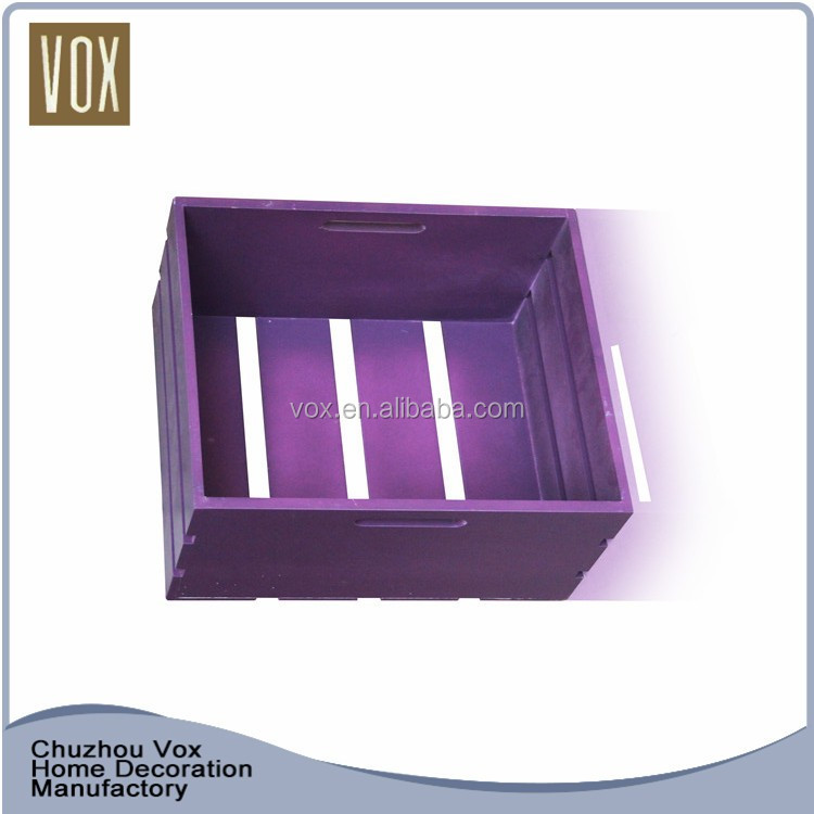 custom made nice cheap storage wooden craft crates