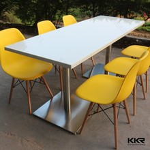 laminated marble table tops/dining table and 8 chairs