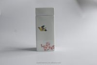 High end teahouse selling Hand Painted Underglazed Porcelain 23cm tea canister