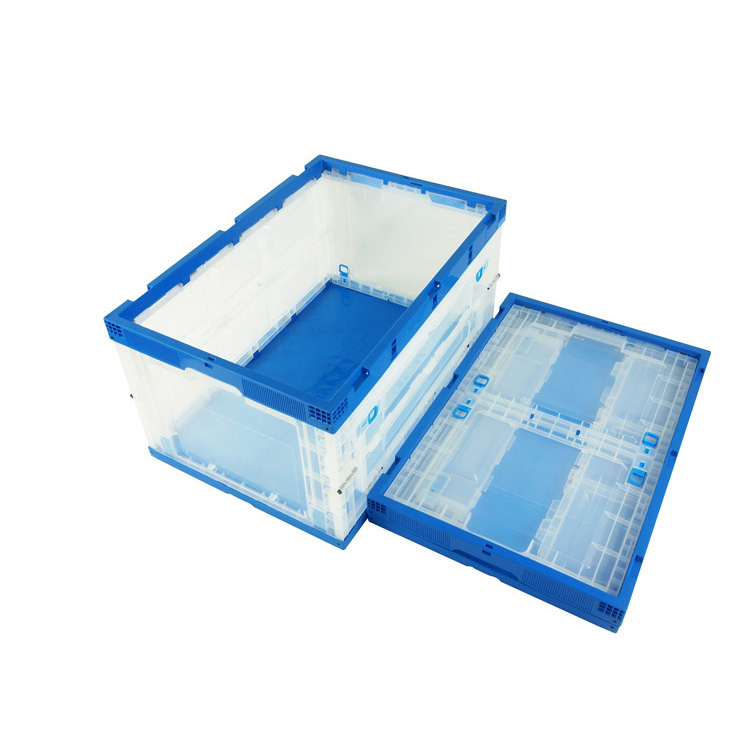 Stacking and Folding Clear Storage Box for Multipurposes