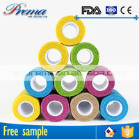 Own Factory Direct Supply Non-woven Elastic Cohesive Bandage quality die cut adhesive 4.5m tape