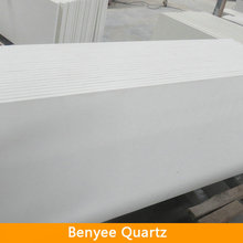 Pure White Molded Quartz Sink Countertop Wholesale, sparkle quartz stone countertop