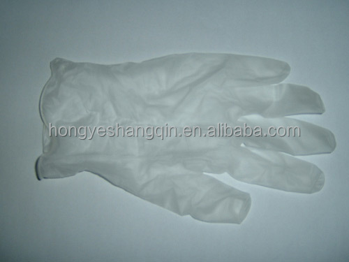 Disposable powder free synthetic vinyl exam gloves made in china