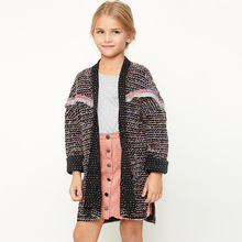 Online Shopping Clothing Fancy Two Colour Wool Long Sweater Design For Big Girl Made In China