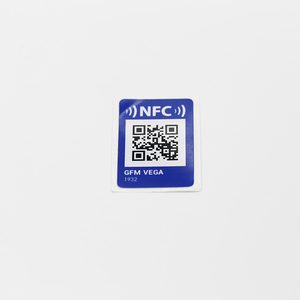 Free Sample Black RFID paper printable rewritable NTAG215 nfc tag