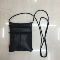 New Latest Small Leather Mobile Phone Messenger Bag With Long Strap