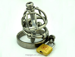 Sex Toy Steel Penis Lock Cage Male Chastity Device With Brass Lock Adult Sex Toy