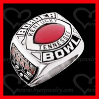 stainless steel championship ring custom red onyx