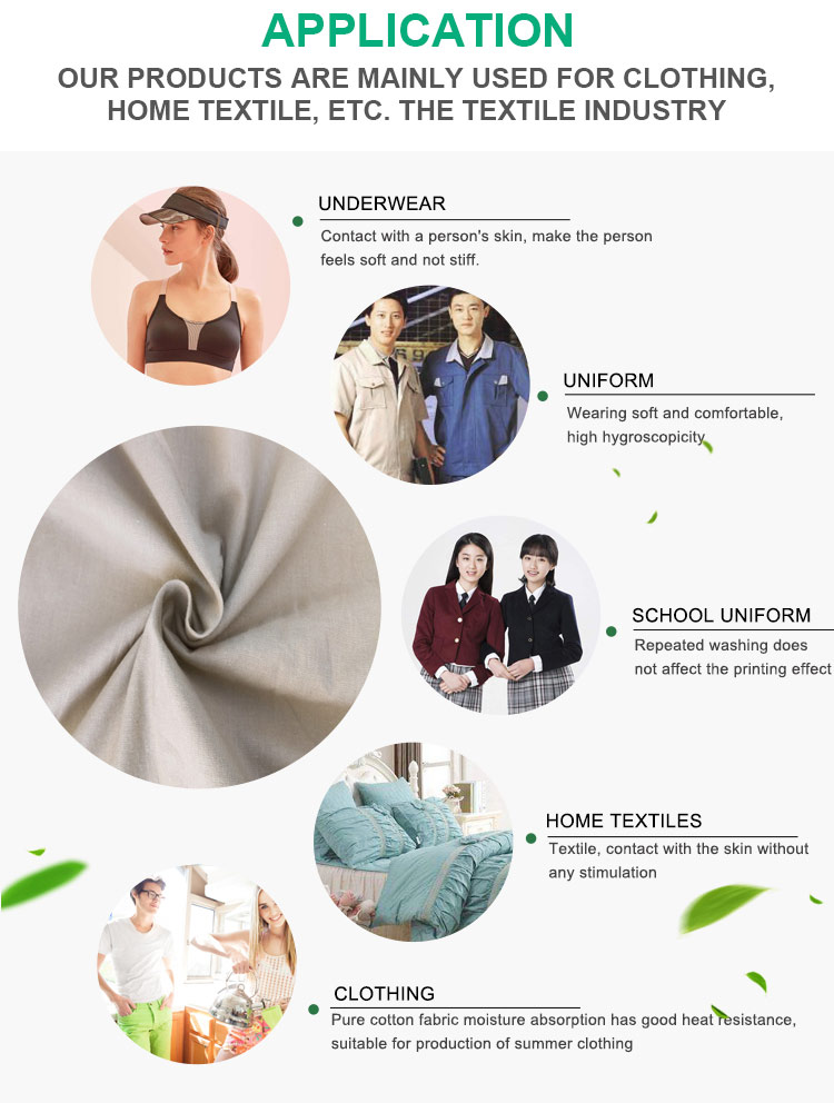 China supplier printed 100 cotton shirting fabric for women