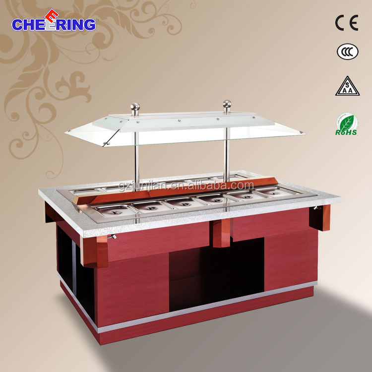 commercial fast food equipment/ buffet counter stall/refrigerator chiller