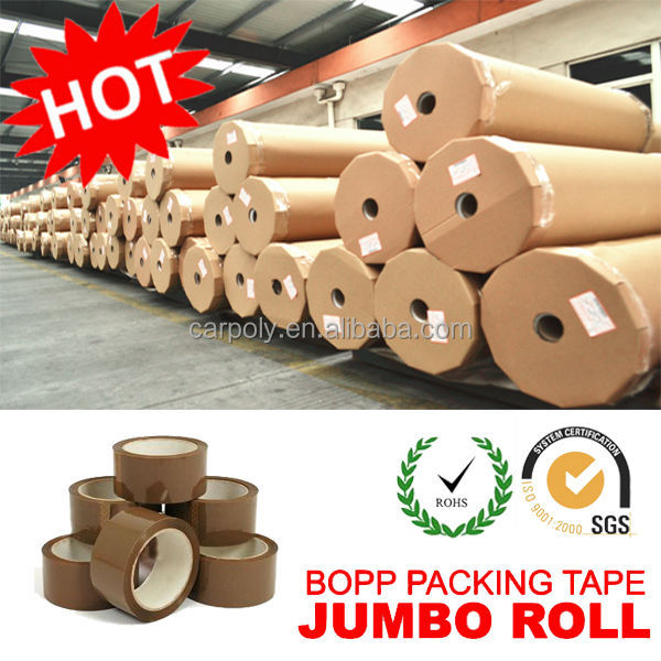 HOT Selling !!! CARPOLY High Performance BOPP Adhesive Tape Jumbo Roll (Multi Colors)