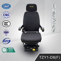 Black Ultraleather Adjustable and Recline Driver seats TZY1-D8