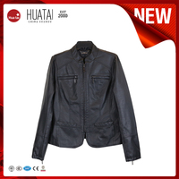 2015 Promotional Faux Fur leather jacket motorcycle