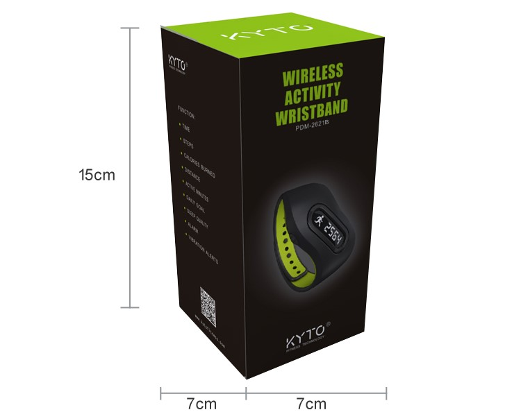 KYTO original buetooth waterproof smart band with sleep monitor function