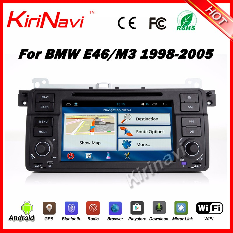 Kirinavi WC-BW7019 Android 5.1 multimeida system 2 din auto radio car dvd for bmw e46 1998-2015 with gps touch screen dvd player