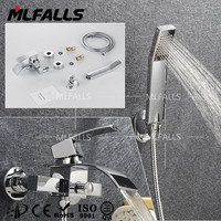 Factory chrome tub and shower faucets,waterfall cheap bathroom faucets,in wall kinds of faucets