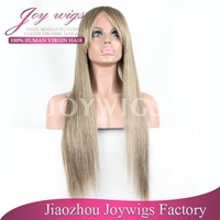 Most Popular fashion new style best quality mixed grey wig