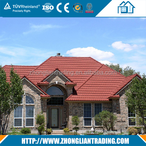0.4mm thickness stone coated metal roof tile
