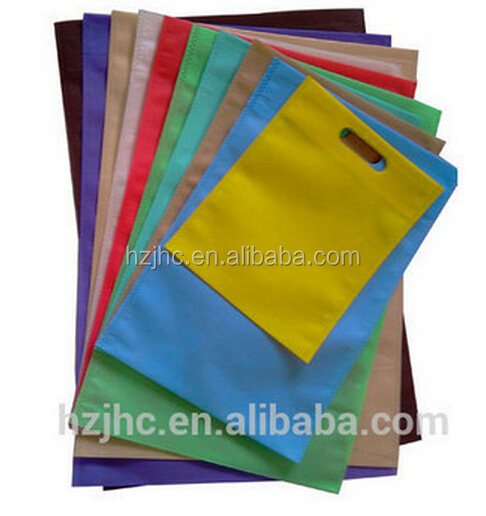 Colorful polyester /polypropylene spunbond disposable nonwoven cloth bag fabric