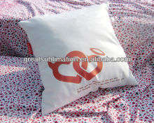 Sublimation white blank pillow case