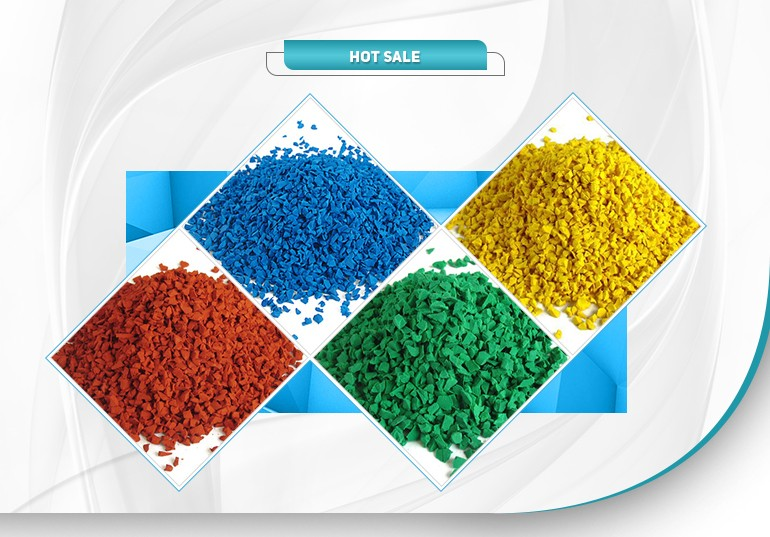 Badminton court mat, EPDM rubber Granules/Colored EPDM crumb rubber for playground