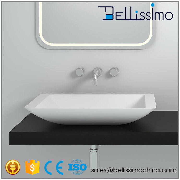 China Wash basin sanitary wares supplier,Composite acrylic stone bathroom Basin, BS-8324