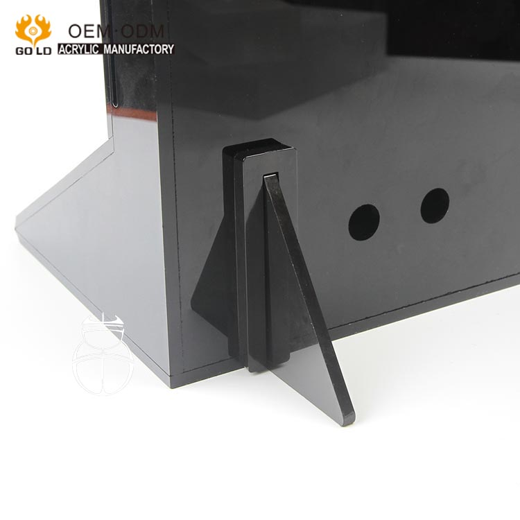 luxury black counter top acrylic music stand for blue tooth speaker