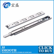 Furniture Fitting 45mm Drawer Slide Telescopic Channel 3509
